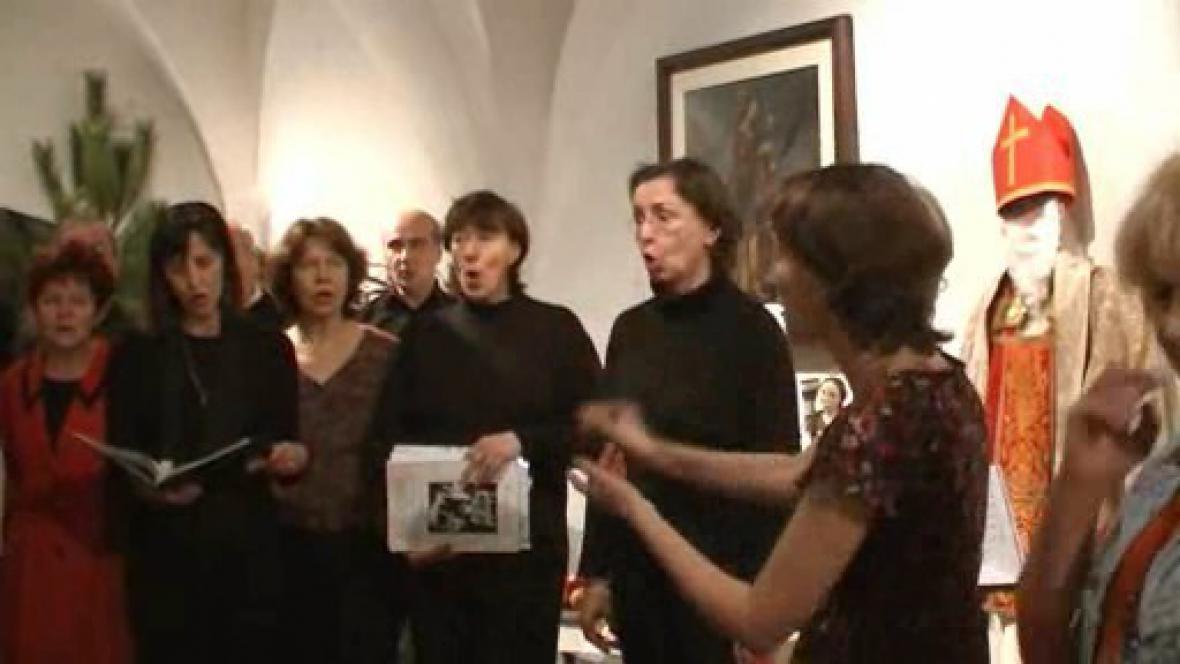 Mikuláš a vánoční výstava