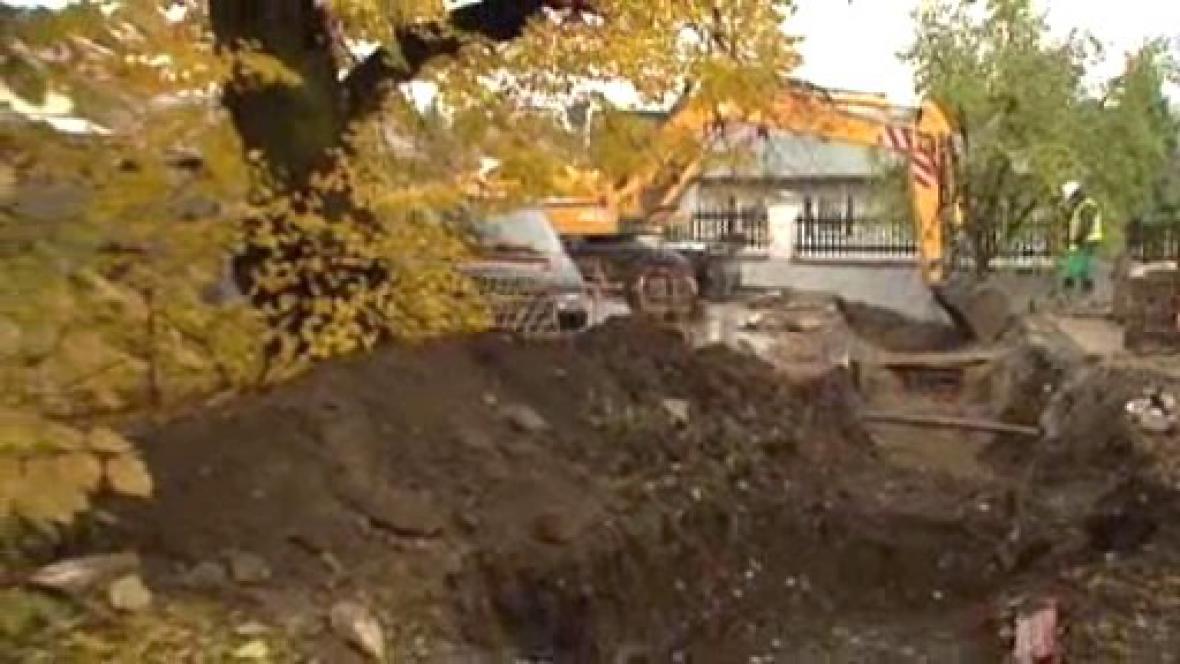 Stavba kanalizační přípojky