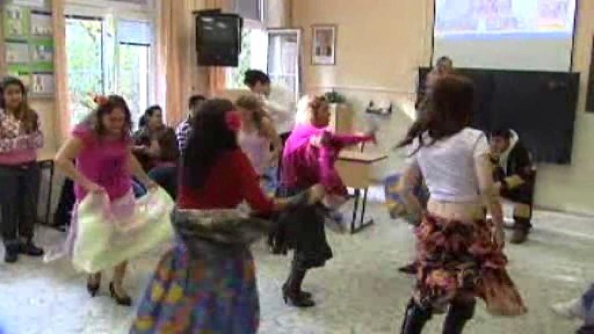 Romské tanečnice