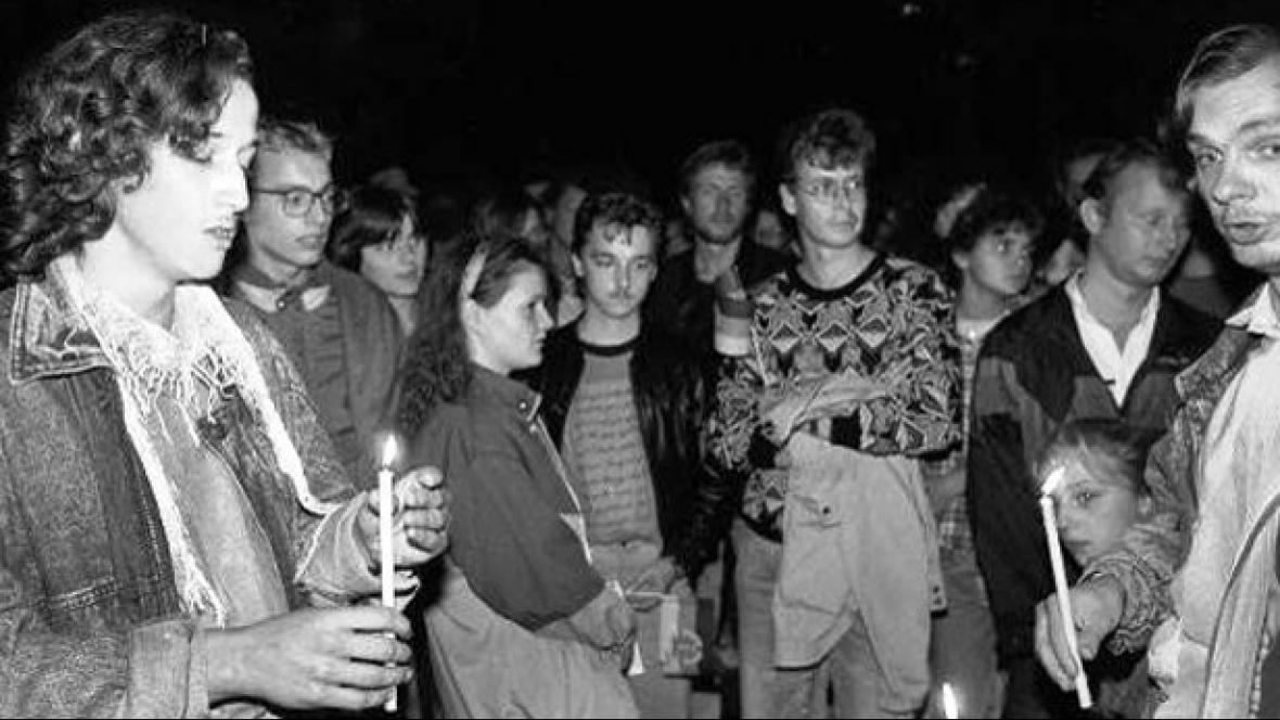 Demonstrace v Lipsku v říjnu 1989