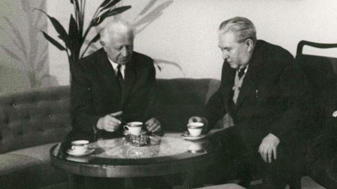 Ludvík Svoboda a Jaroslav Seifert
