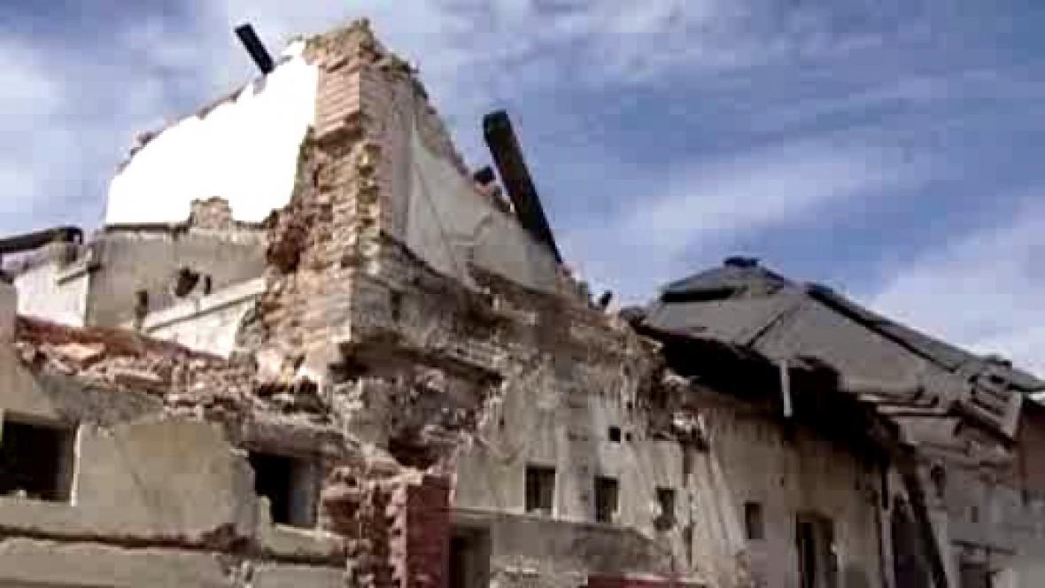 Ruina bývalé továrny