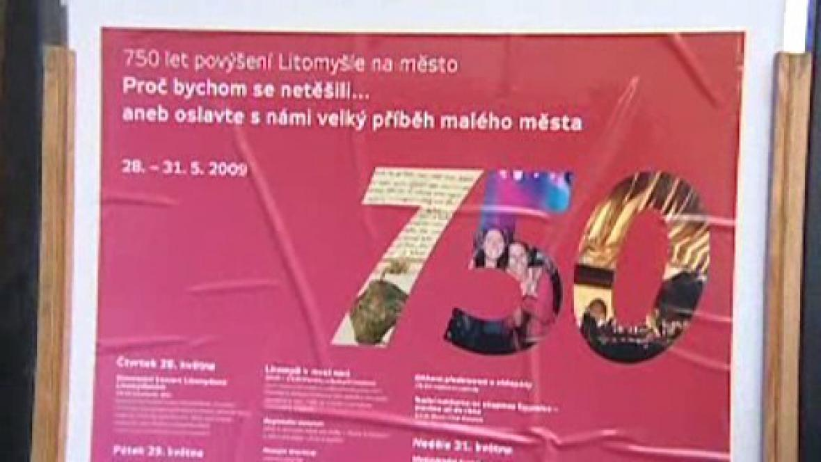 750 let povýšení Litomyšle na město