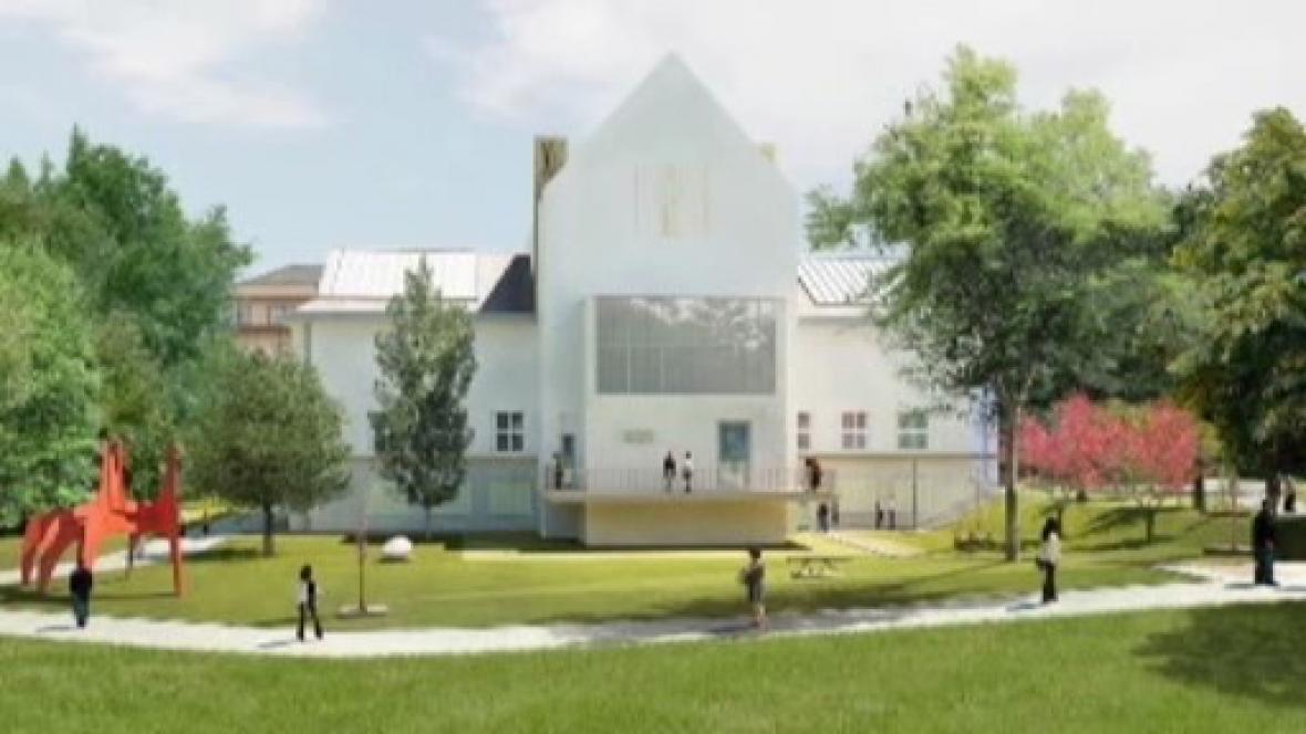 Dům umění v Brně s navrhovaným sgrafitem