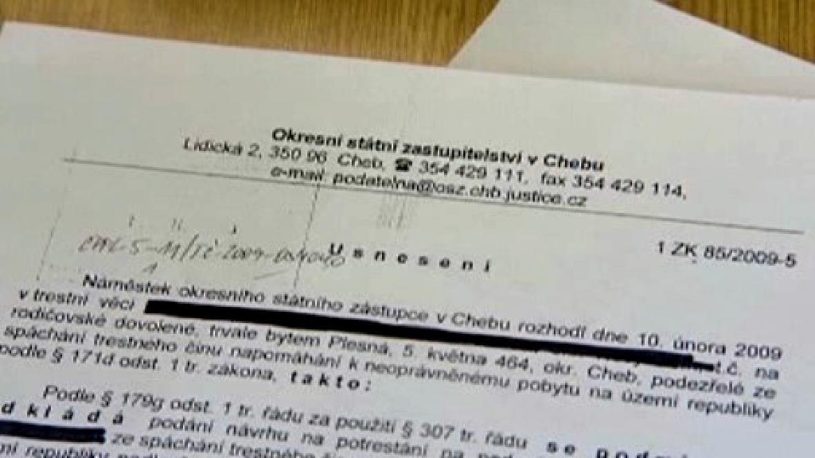 Usnesení chebského zastupitelství