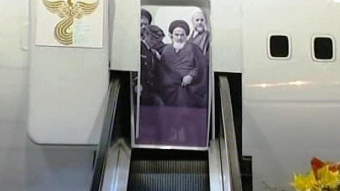 Fotka Chomejního v životní velikosti