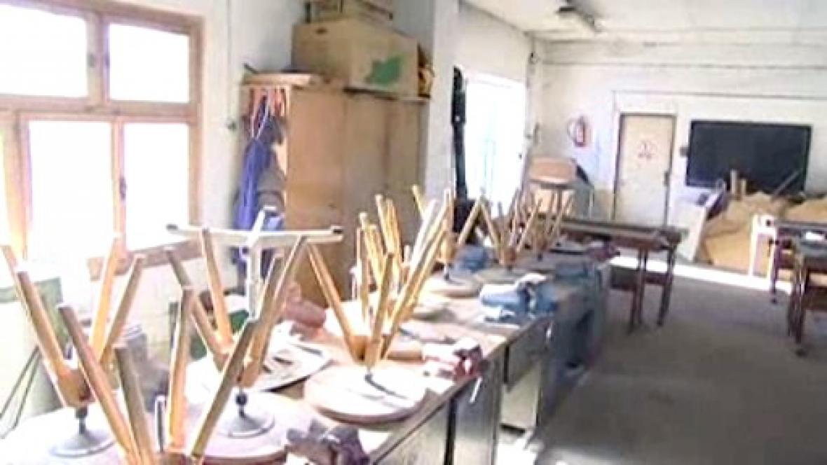 Jedna ze tříd školy v Horní Plané
