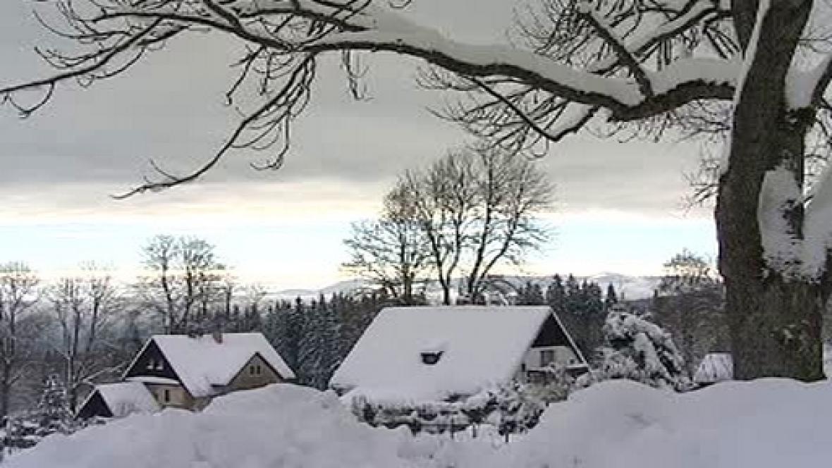 Sníh na Šumavě