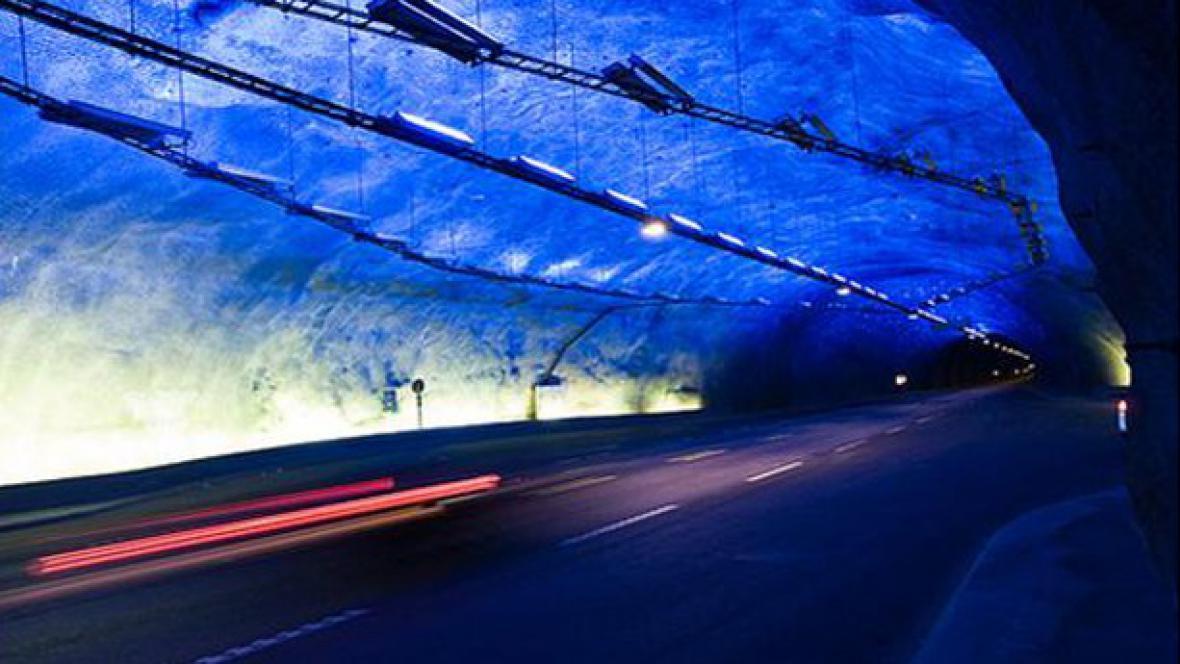 Laerdalský tunel v Norsku