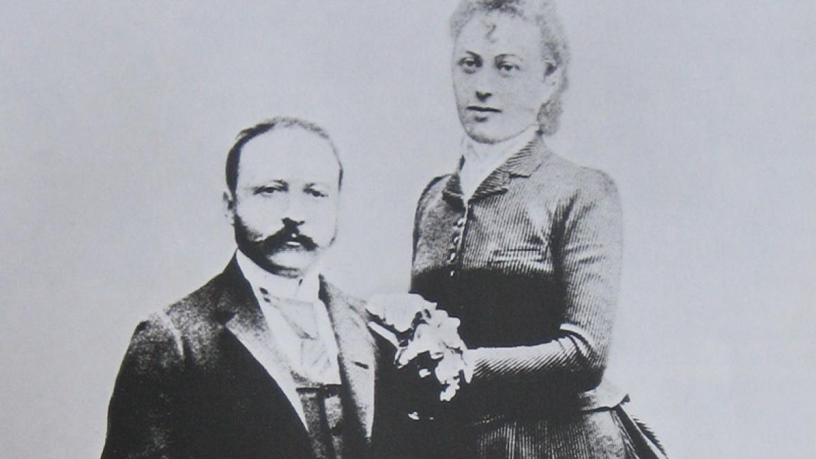 César Ritz s chotí Marií-Luisou