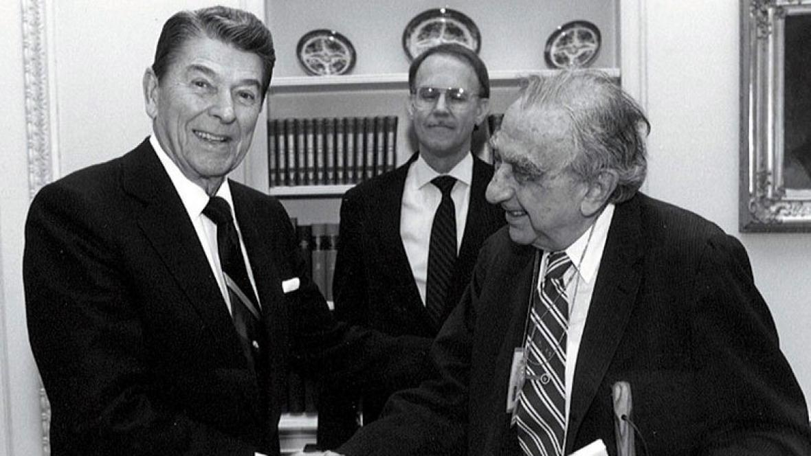 Ronald Reagan a Edward Teller