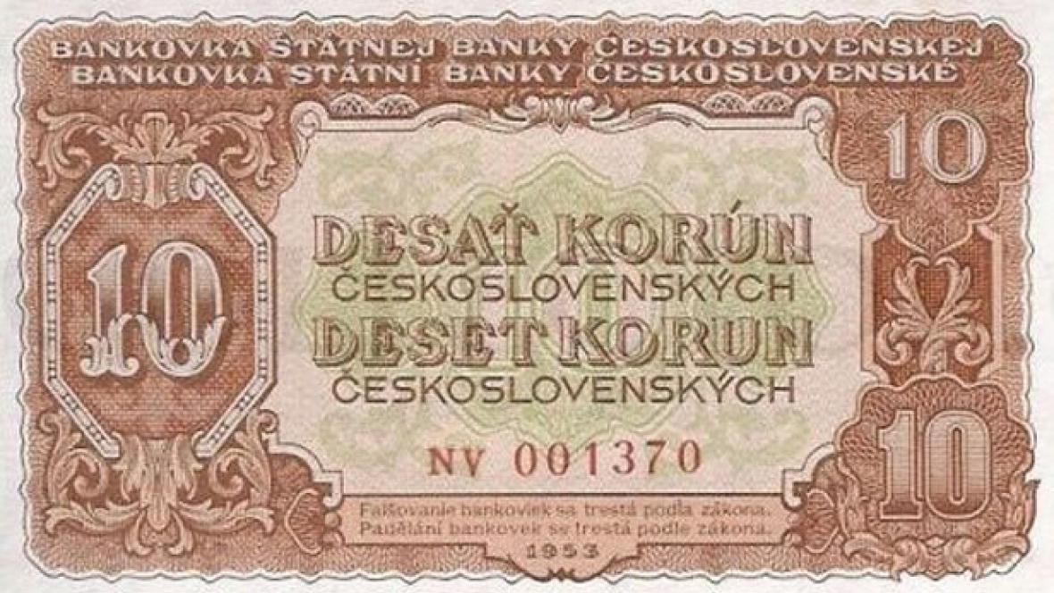 Peníze z roku 1953