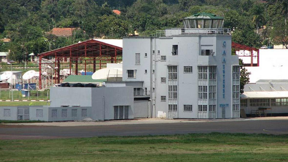 Letiště v ugandském městě Entebbe