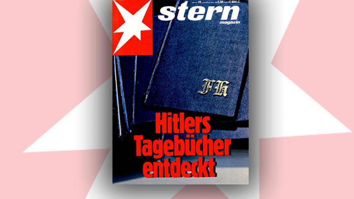 Obálka časopisu Stern s Hitlerovými denníky
