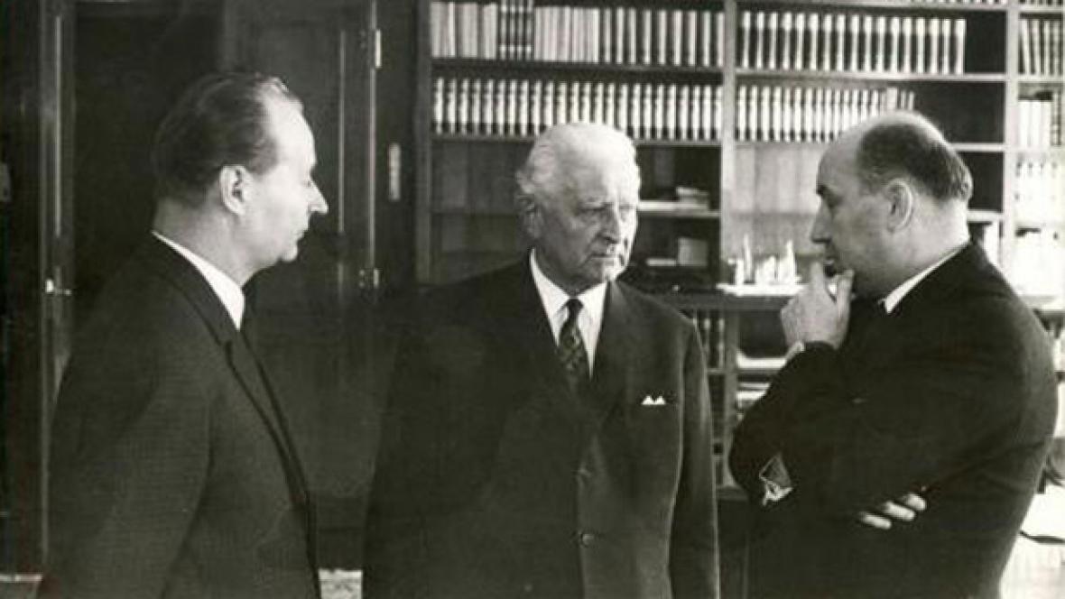 Alexander Dubček, Ludvík Svoboda a Oldřich Černík