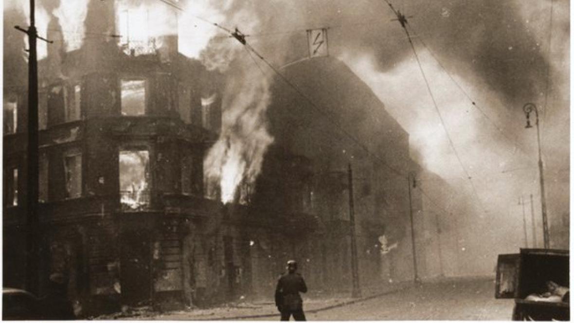 Požár ve varšavském ghettu