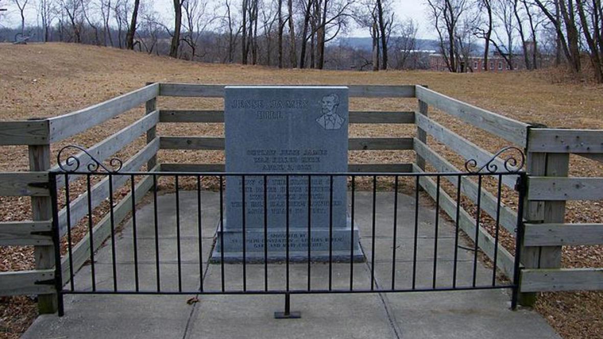 Místo, kde byl Jesse James zastřelen