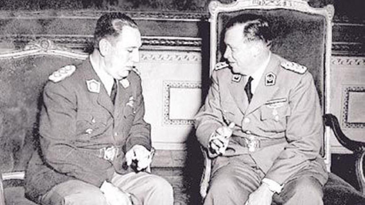 Perón a  Stroessner