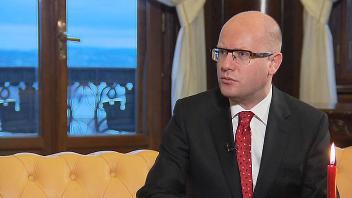 Bohuslav Sobotka při novoročním rozhovoru s ČT