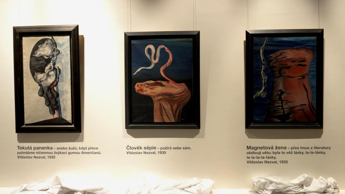 Z výstavy Štyrského a Toyen v Mánesu