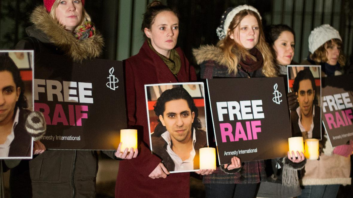 Demonstrace za propuštění Raífa Badávího