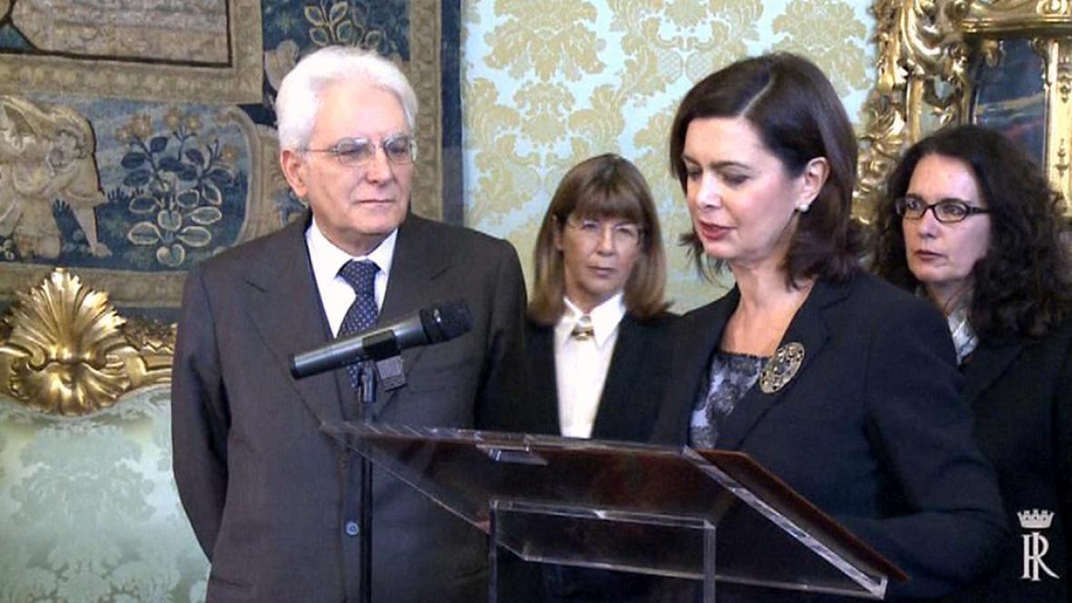 Nový italský prezident Sergio Mattarella
