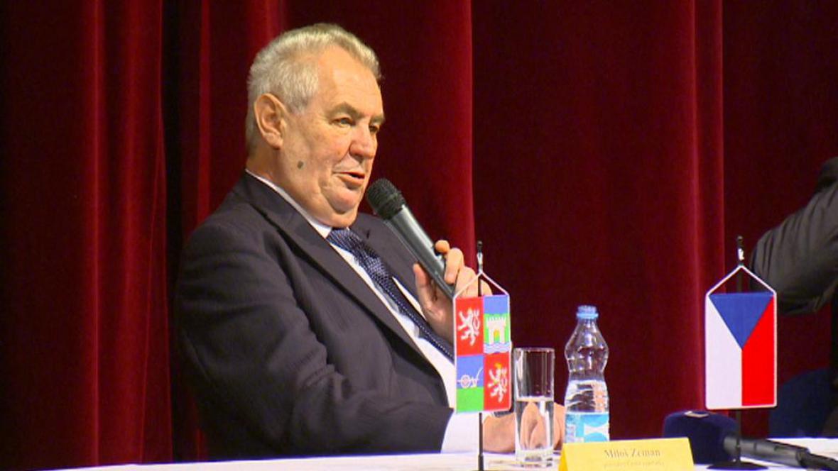 Miloš Zeman v Ústí nad Labem