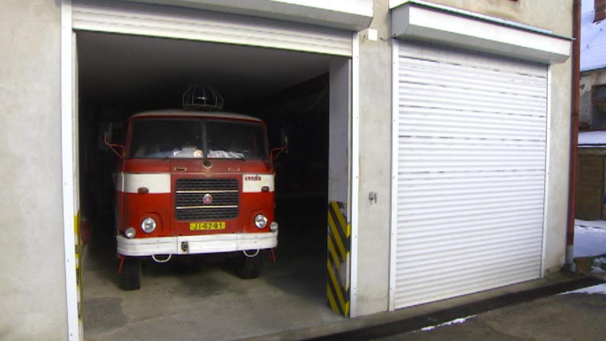 Zásahový vůz dobrovolných hasičů