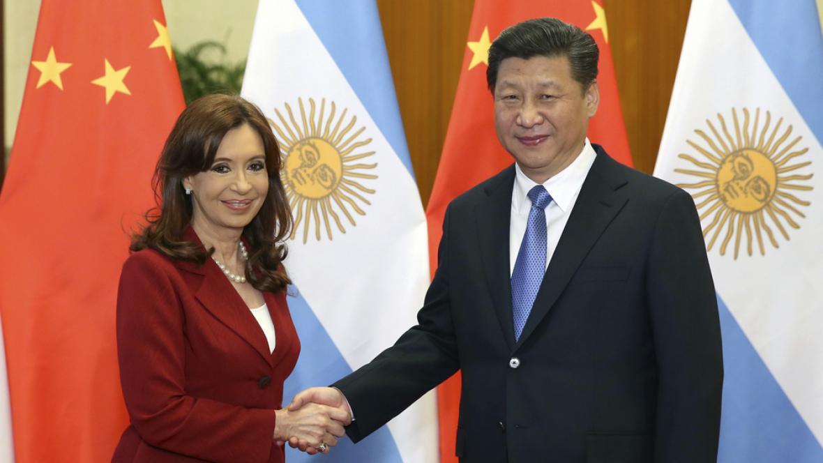 Fernándezová na setkání s čínským prezidentem