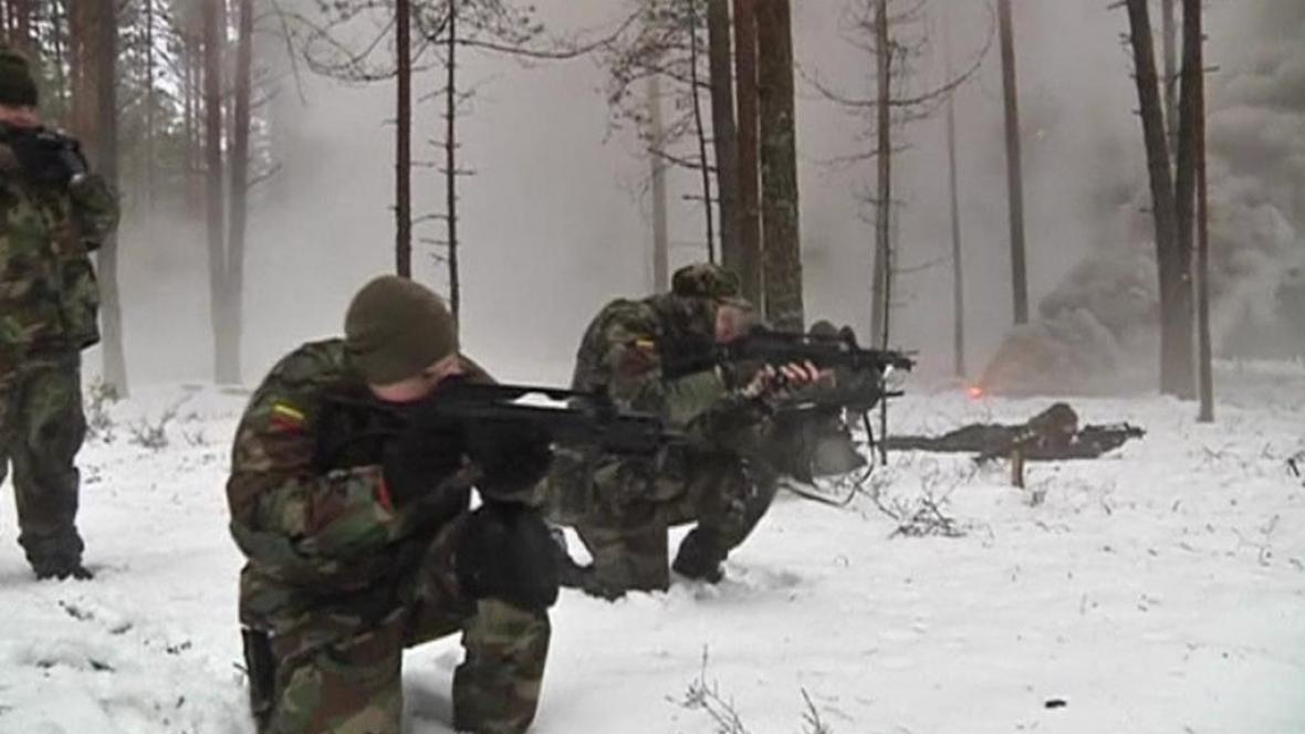 Výcvik litevské Střelecké jednoty