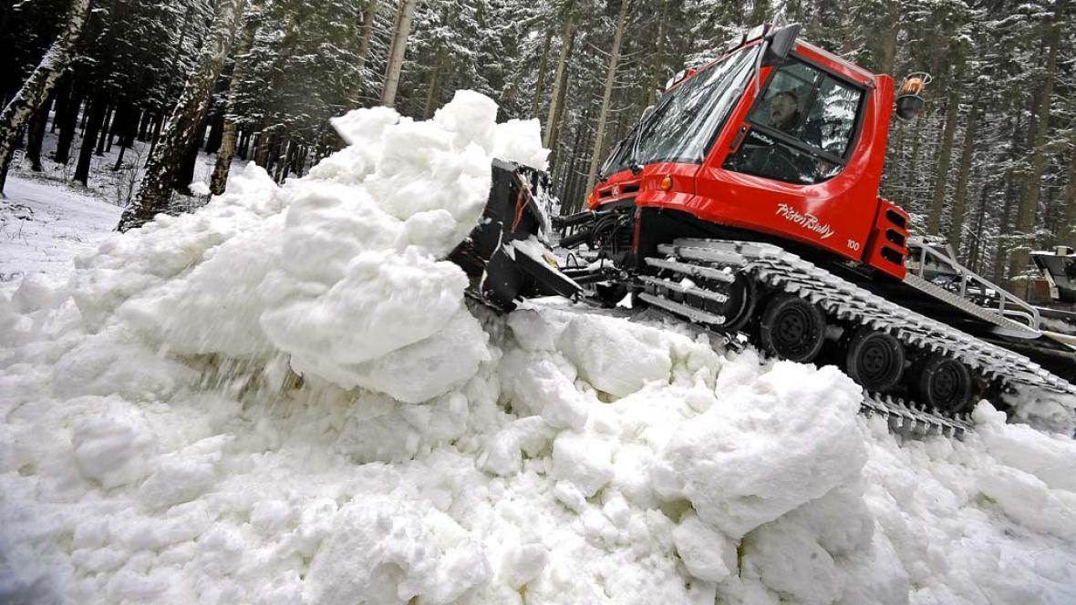 Upravování sněhu