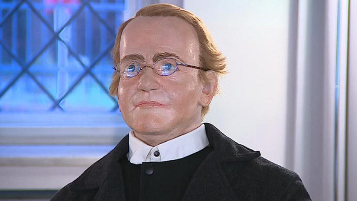 Vosková figurína Johanna Gregora Mendela