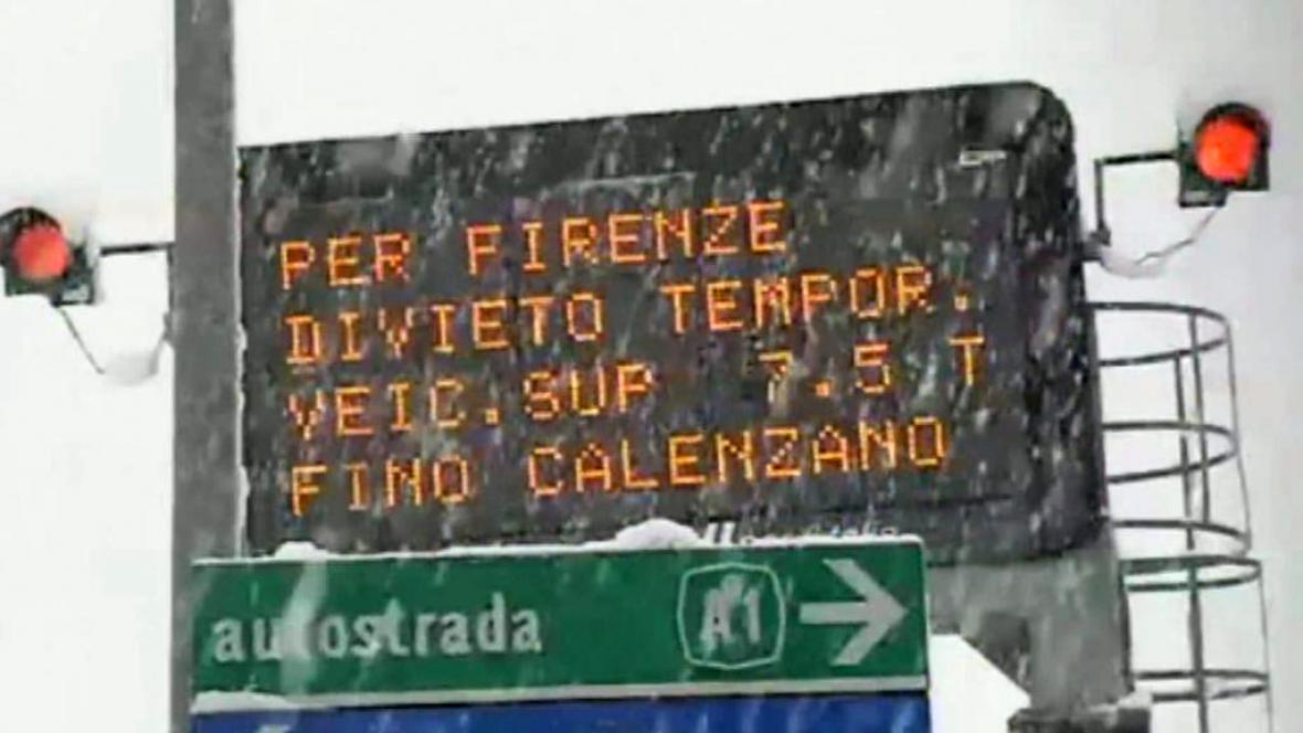Sněžení v Itálii