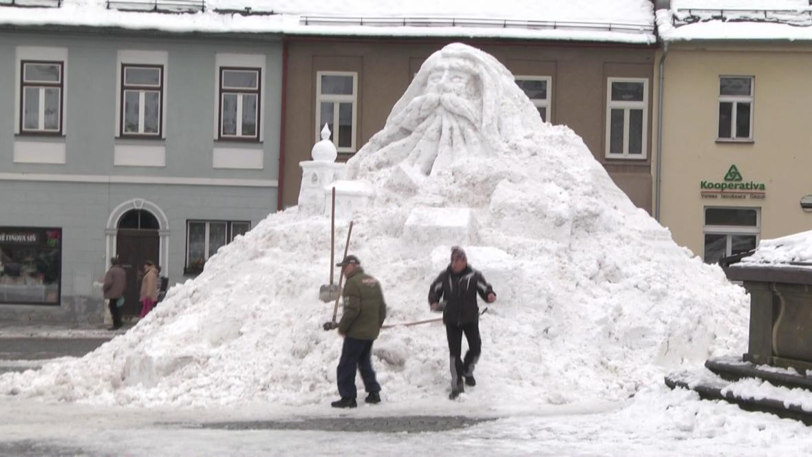 Sněhový Krakonoš v Jilemnici