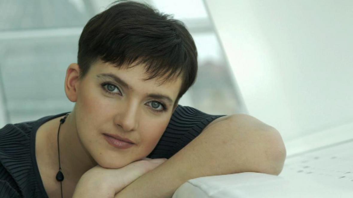 Ukrajinská pilotka Naděžda Savčenková