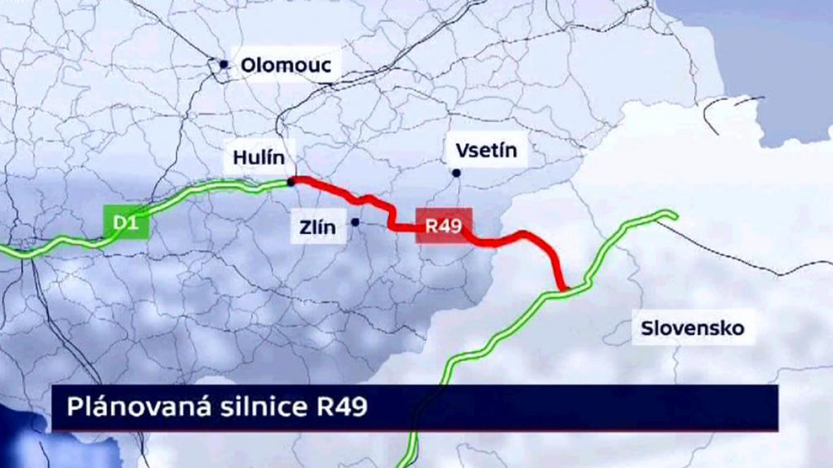 Plánovaná silnice R49