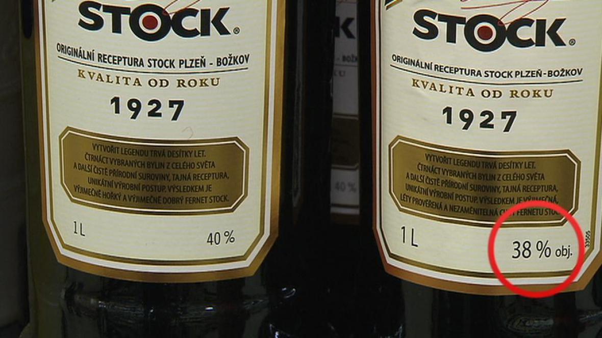 Nový Fernet bude mít obsah alkoholu jen 38 procent