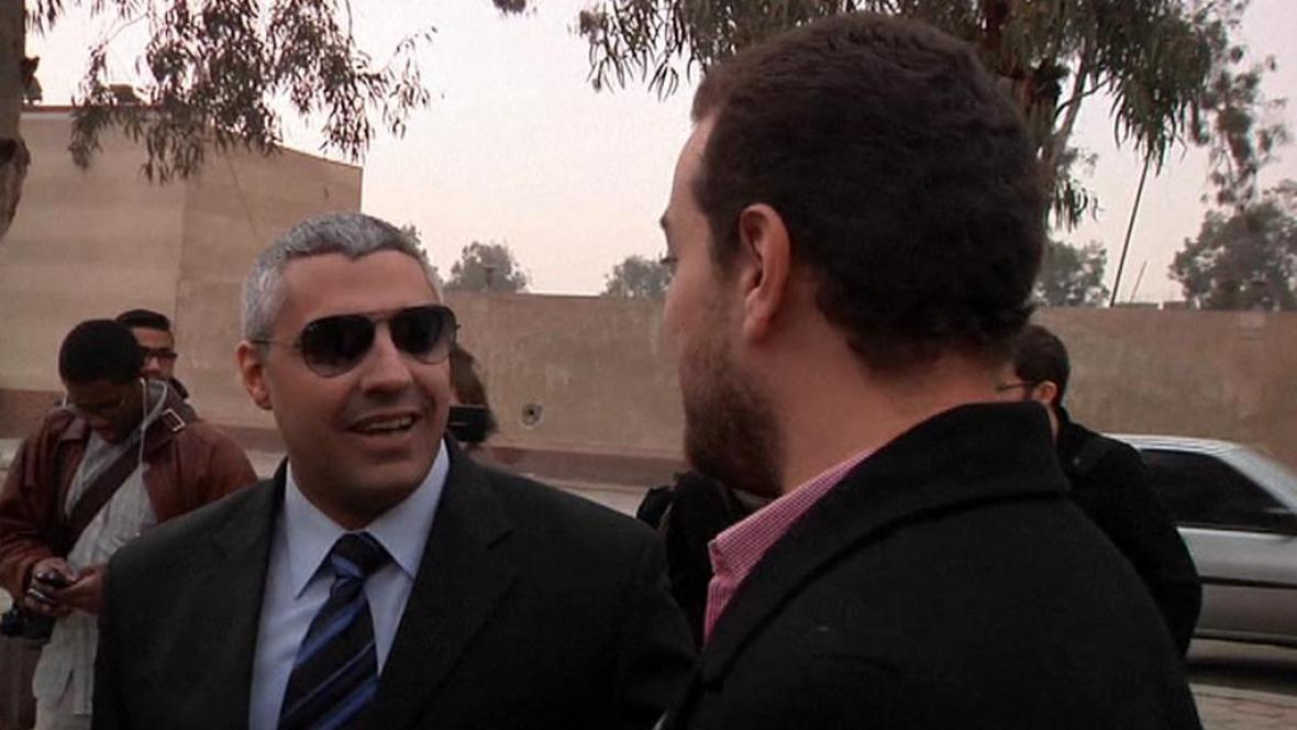 Novináři Al-Džazíry Mohamed Fahmy a Báhir Muhammad