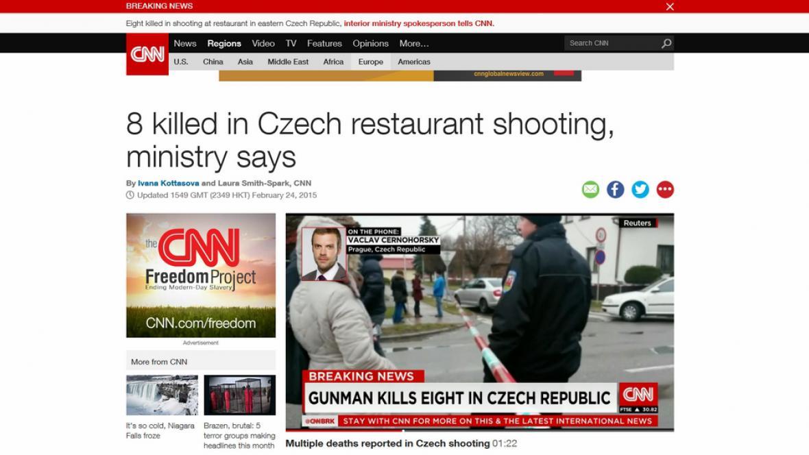 Stránky CNN a telefonát s redaktorem ČT