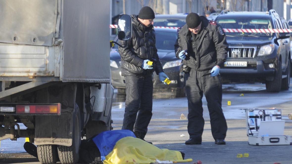 Vyšetřování po nedělní explozi v Charkově