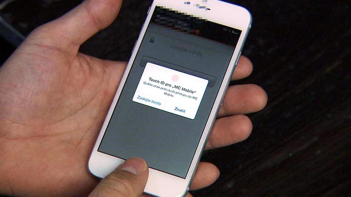 Otisky prstů v mobilní aplikaci