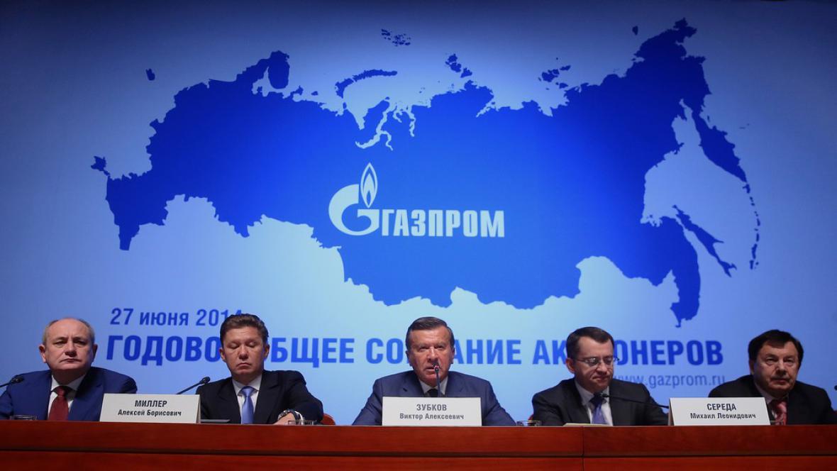 Zástupci Gazpromu