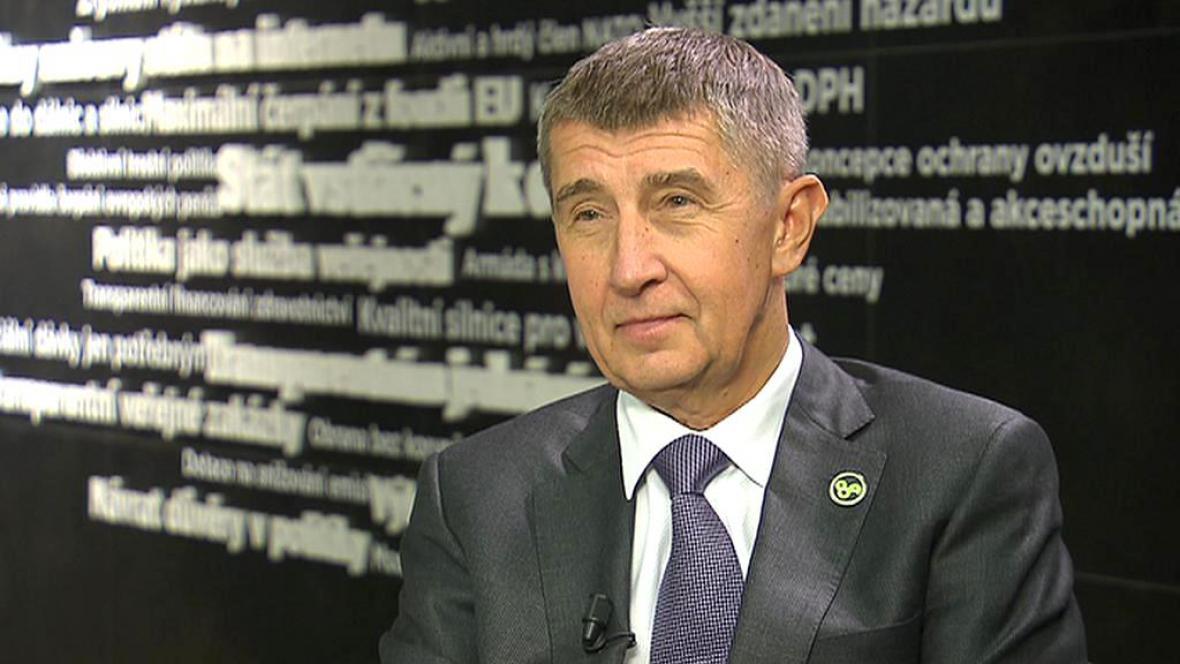 Andrej Babiš při rozhovoru pro ČT24