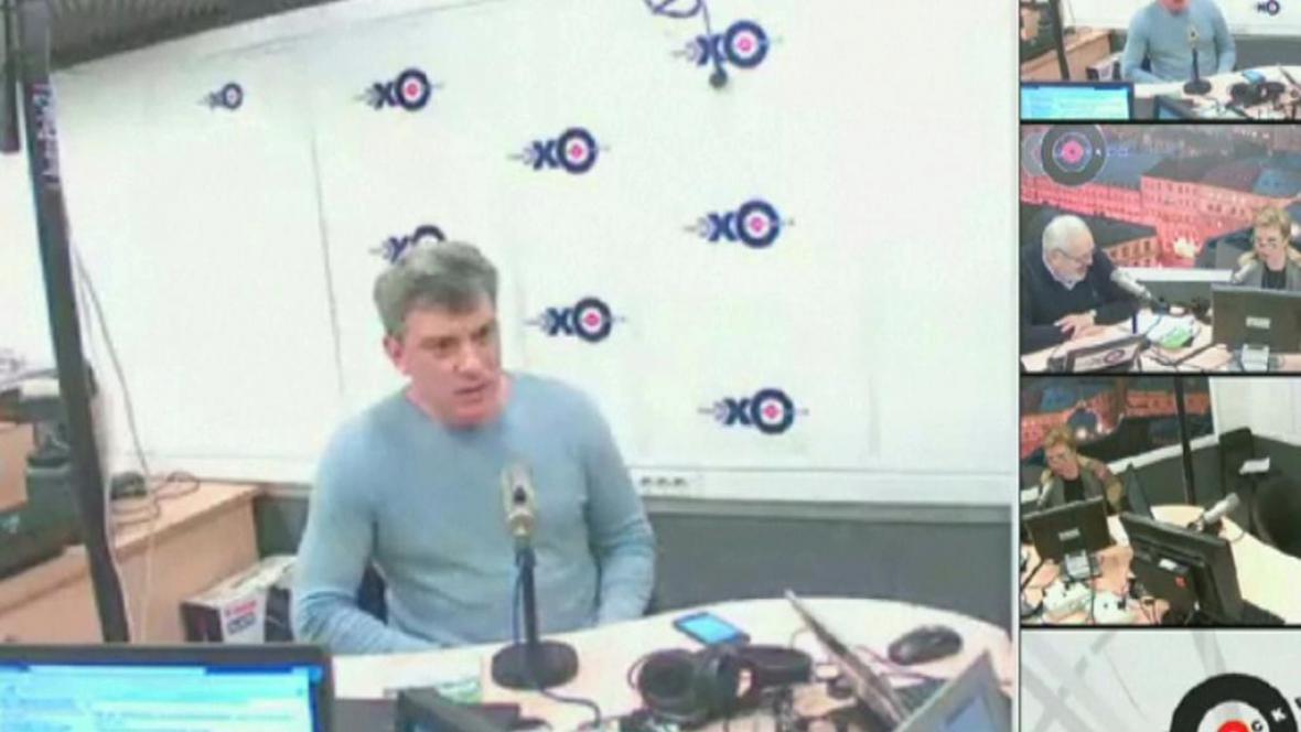 Boris Němcov během rozhovoru pro Echo Moskvy