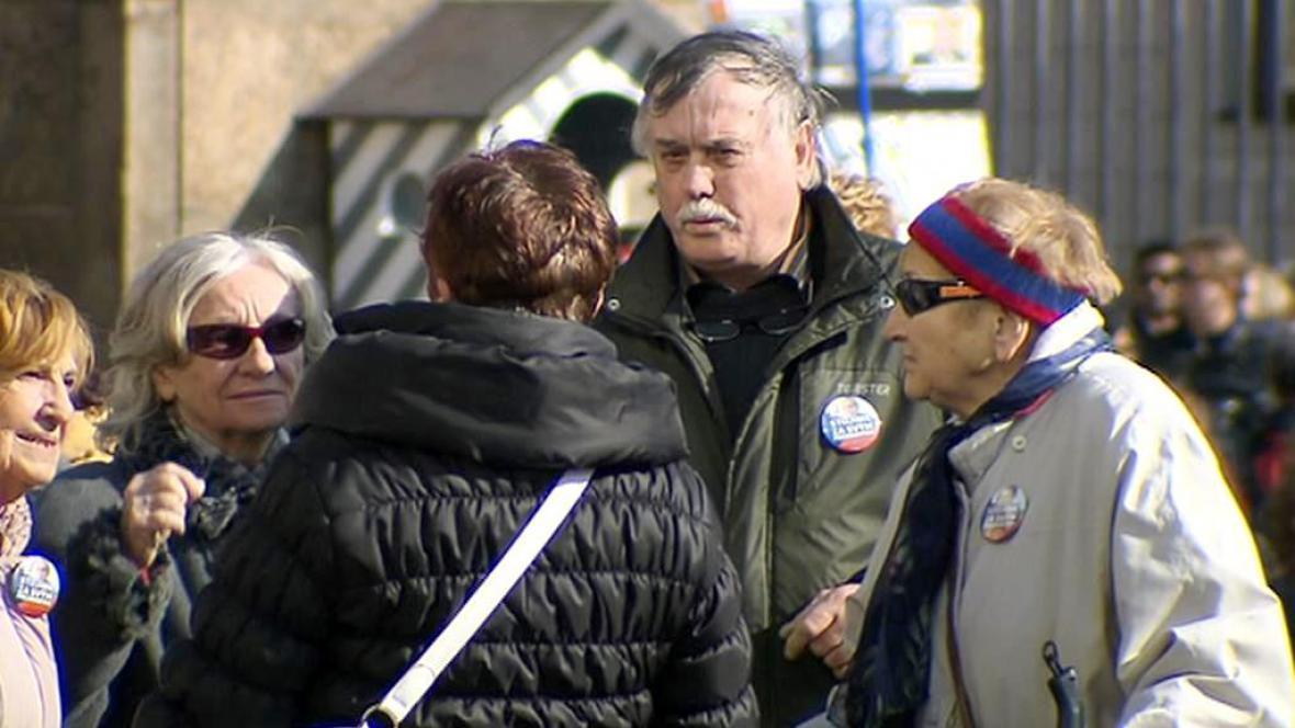 Podporovatelé prezidenta Zemana