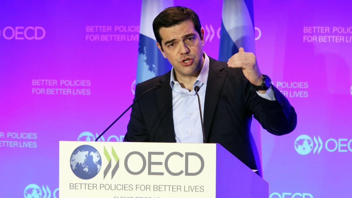 Alexis Tsipras po jednání s OECD