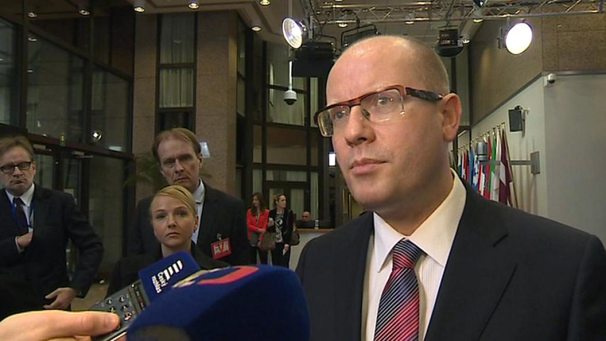 Bohuslav Sobotka po jednání s Donaldem Tuskem