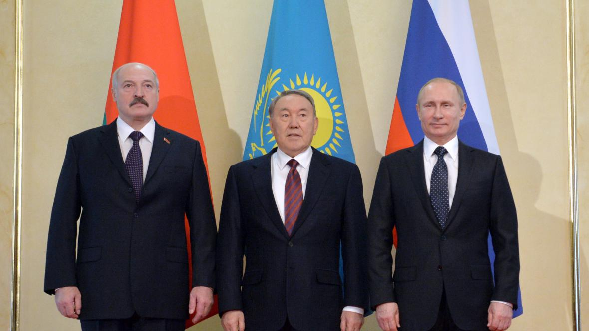 Alexandr Lukašenko, Nursultan Nazarbajev a Vladimir Putin
