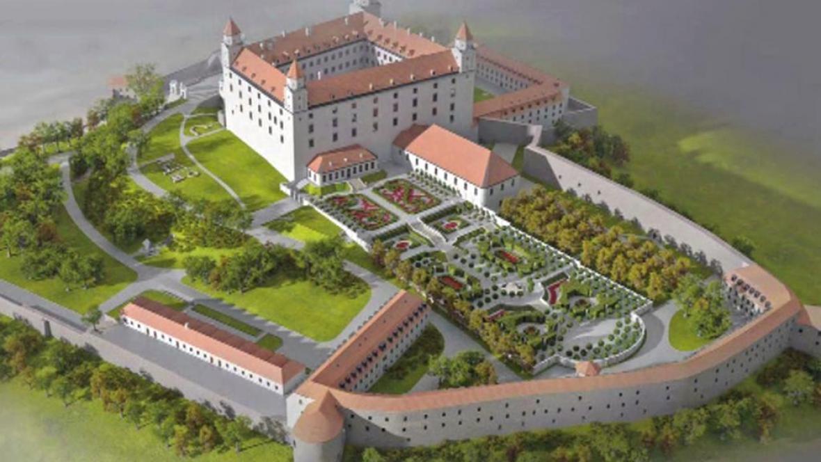 Vizualizace projektu na Bratislavském hradě