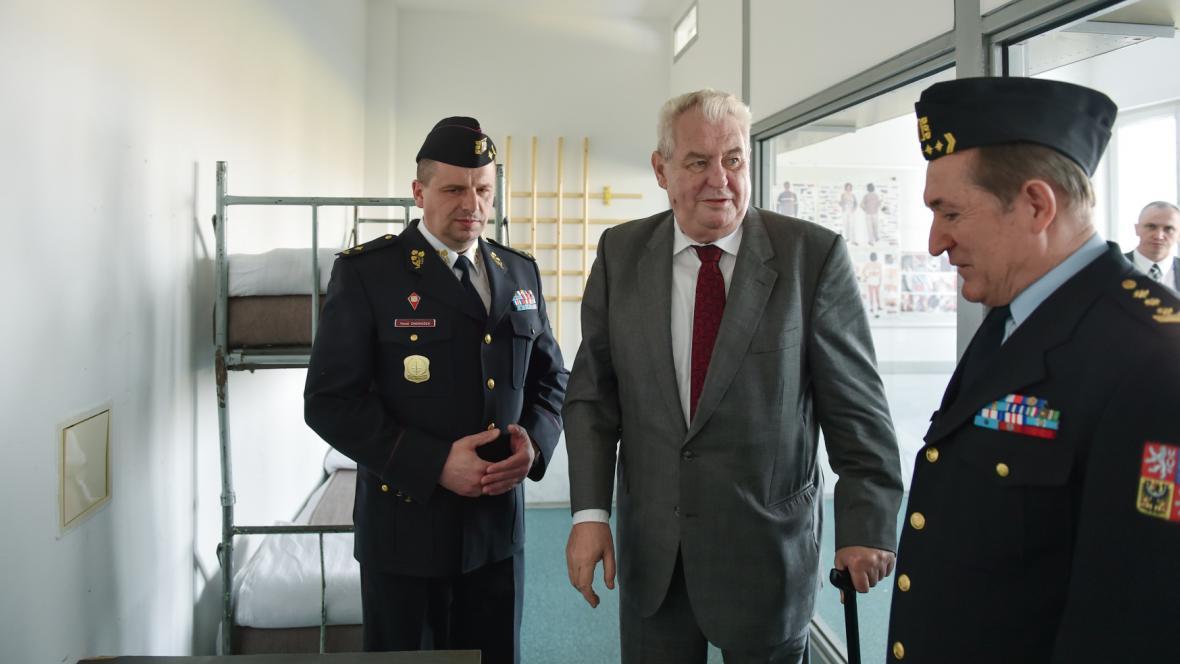 Prezident Zeman při návštěvě Libereckého kraje